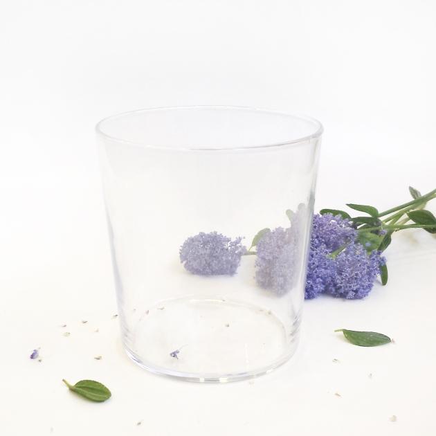Azul - vaso y flores