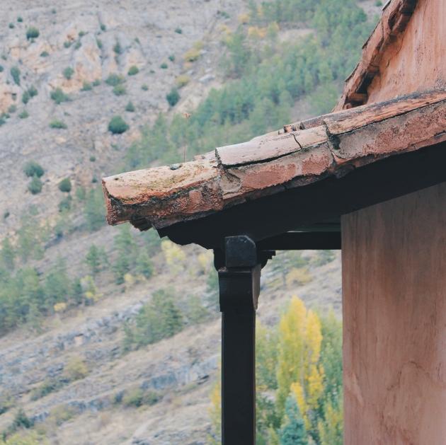 Detalle de la arquitectura de Albarracin, Teruel