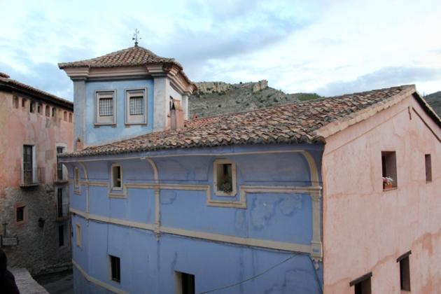 Casa añil en Albarracin, Teruel
