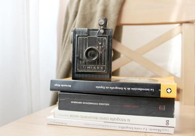 mi camara vintage lumiere y libros de fotografia