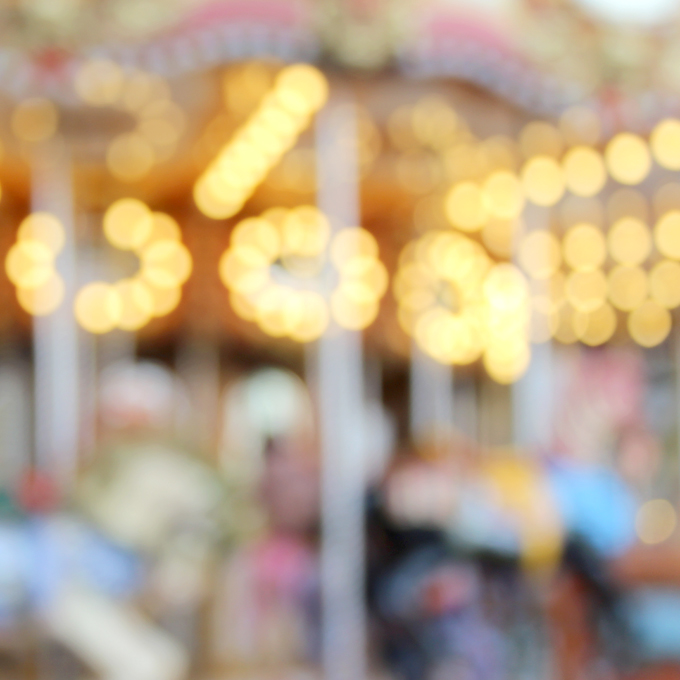 luces carrousel desenfoque